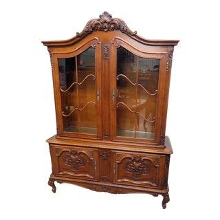 Belgian Oak Victorian China Cabinet