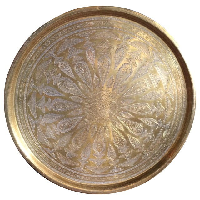 Etched Brass Tray - Image 1 of 6