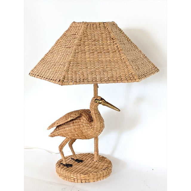 1970s Mario Lopez Torres Crane Table Lamp For Sale - Image 11 of 12