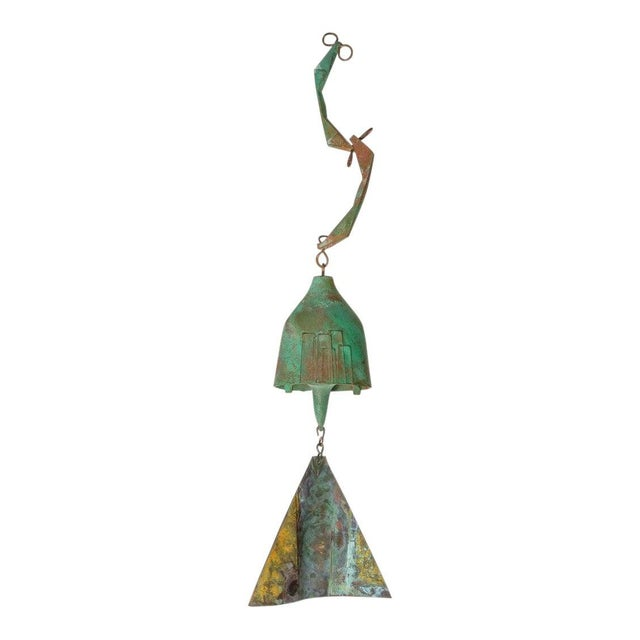 Arts & Crafts Mid-Century Modern Brutalist Bronze Wind Chime by Paolo Soleri For Sale - Image 3 of 12