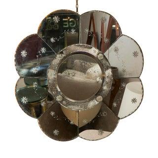 Unusual Murano Round Mirror, Italy, circa 1940