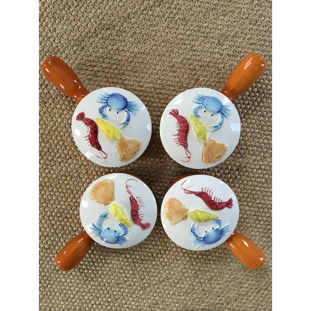 1950s Set of 4 Nautical Oven Proof Hand Painted Casserole Dishes - Made in Japan For Sale - Image 13 of 13