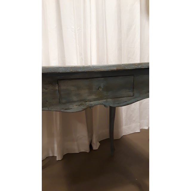 Blue Painted French Louis XV Rococo Side Table - Image 5 of 6
