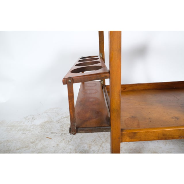 Mid 20th Century Mid-Century Wooden Bar Cart For Sale - Image 5 of 11