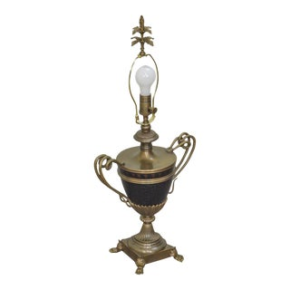 Fine Arts Regency Style Brass Snake Handle Urn Lamp For Sale