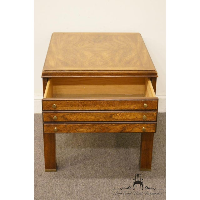 20th Century Contemporary Lane Furniture Bookmatched Walnut End Table For Sale In Kansas City - Image 6 of 13