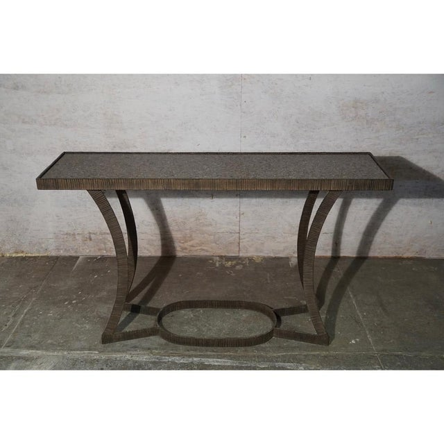 Brutalist Torch Cut Console For Sale - Image 3 of 6