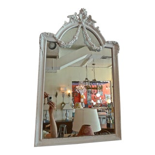 French 19th Century Painted Wood and Gesso Framed Mirror For Sale