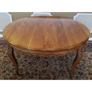 """1970s Quality Solid Cherry 60"""" Diameter French Provincial Dining Room Table Preview"""
