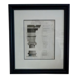 19th Century Architectural Engraving by Wilson Lowry For Sale
