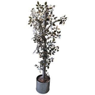 Curtis Jere Silver Raindrops Tree Sculpture For Sale