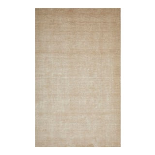 Lodhi, Contemporary Solid Hand Loomed Area Rug, Champagne, 12 X 15 For Sale