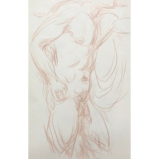 Muscular Male Nude Drawing by James Bone For Sale