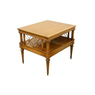 Late 20th Century Vintage Weiman Furniture Rockwood Collection Tiered Table For Sale