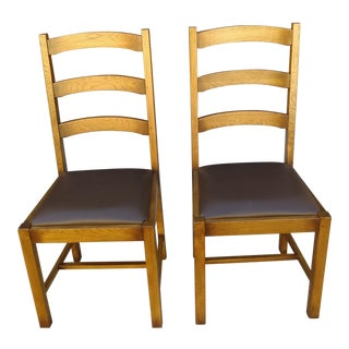 Ladder Back Side Chairs - A Pair