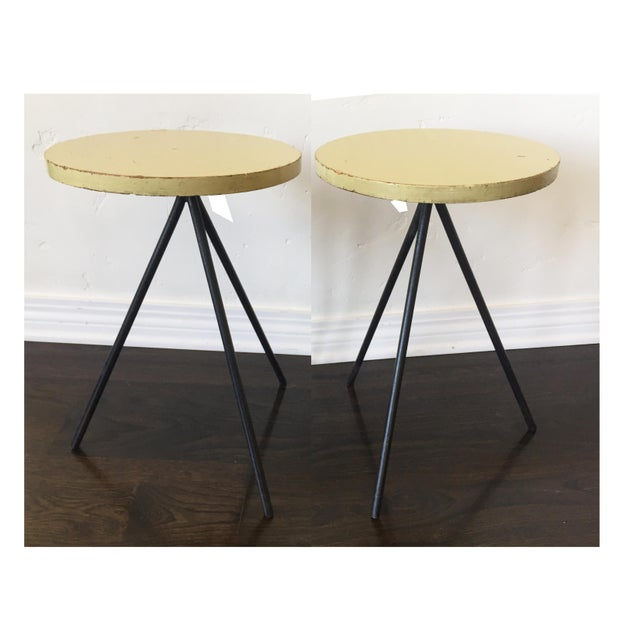 1950s Modern Norman Cherner Tripod Stools - a Pair For Sale In Los Angeles - Image 6 of 7
