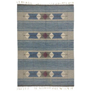 20th Century Scandinavian Modern Rollakan Rug - 4′7″ × 6′8″ For Sale