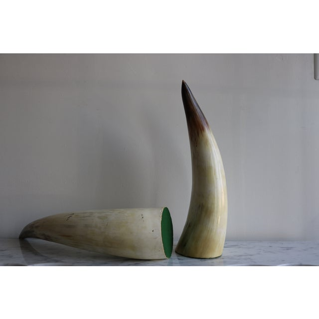 Decorative Bull Horns - A Pair - Image 3 of 4