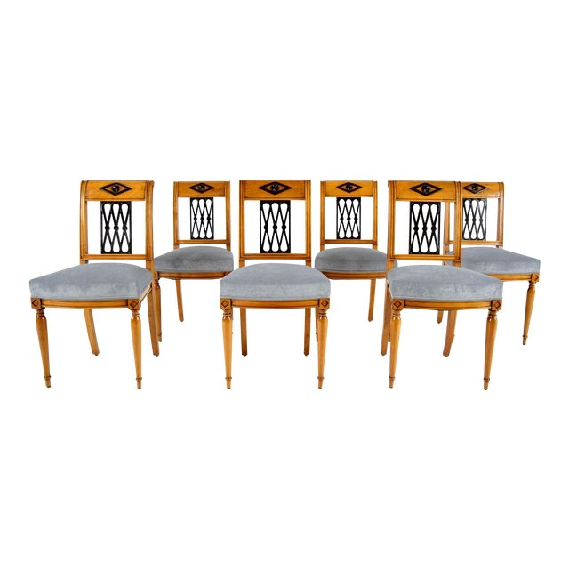 Empire-Style Dining Chairs - Set of 6 - Image 1 of 10