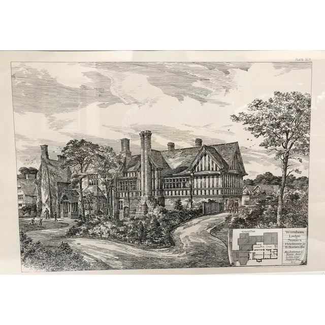 1893 Warnham Lodge Architectural Drawing For Sale - Image 9 of 12