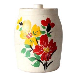 Vintage Hand Painted Cookie Jar For Sale