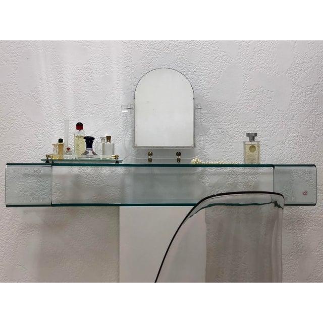 Calligaris Calligaris Italian Glass Floating Vanity or Shelf For Sale - Image 4 of 12