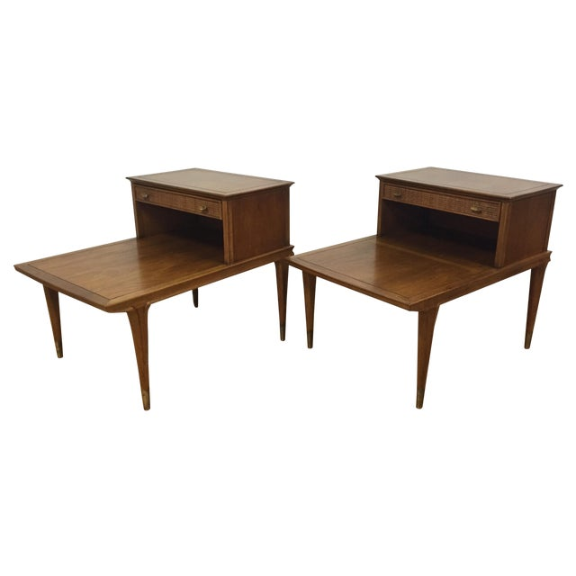 Mid Century Sculpted End Tables - a Pair - Image 1 of 11