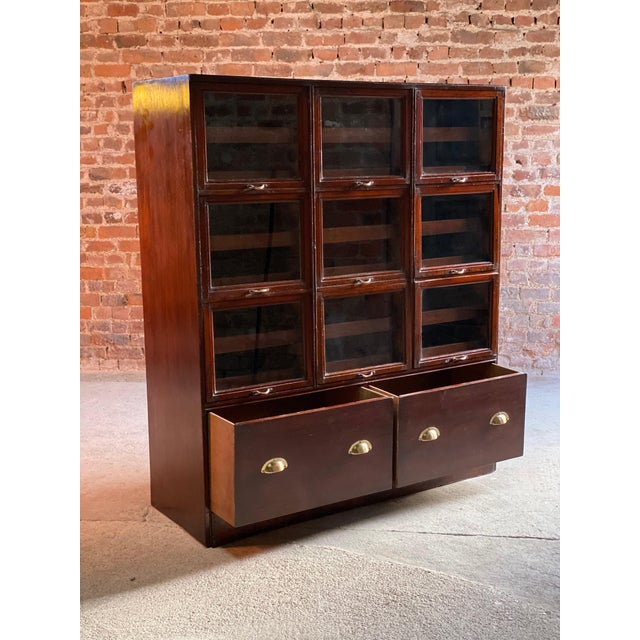 Haberdashery Drapers Shop Display Cabinet Mahogany Loft Style, circa 1940 For Sale - Image 6 of 11