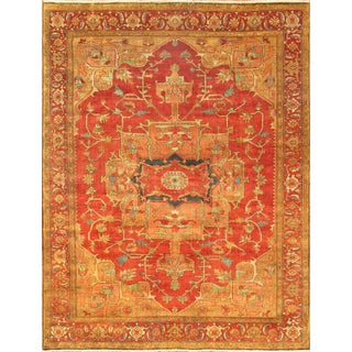 """Pasargad Serapi Lamb's Wool Area Rug- 11'11"""" X 12'"""