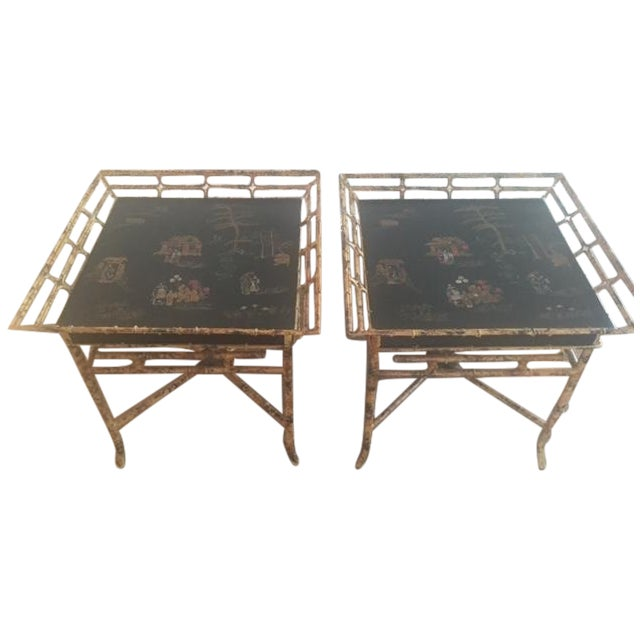 Vintage Chinoiserie Tables - A Pair - Image 1 of 10