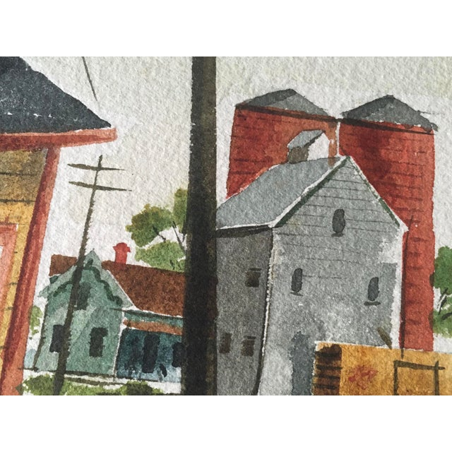 Shooting the Breeze Watercolor by Hal Werneke For Sale - Image 9 of 11