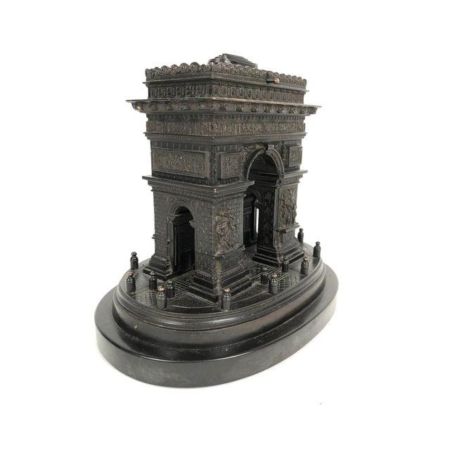 19th Century Grand Tour Bronze Architectural Model of the Arc De Triomphe, Paris For Sale - Image 4 of 12