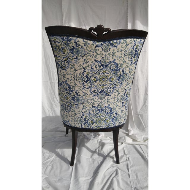 Transitional Antique Wooden Arm Chair - Image 5 of 11