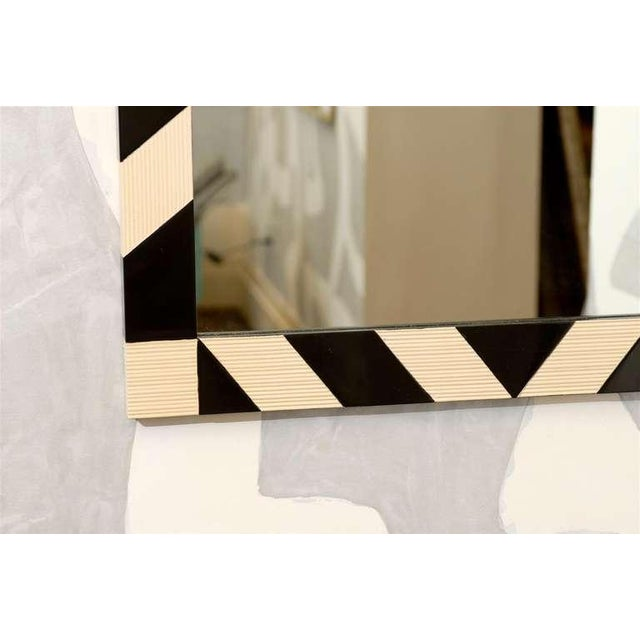 Black Fabulous Pair of Modern High Style Mirrors in Cream and Black For Sale - Image 8 of 10