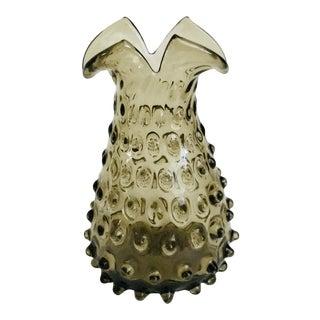 Vintage Mid-Century Hobnail Glass Vase For Sale