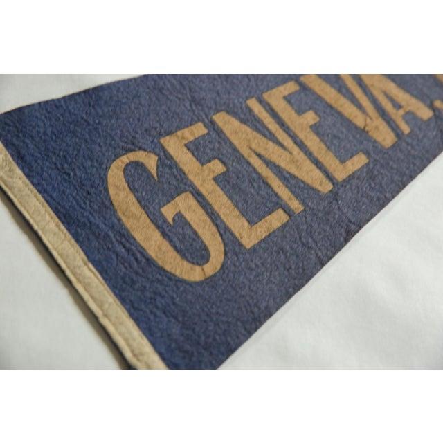 American Vintage Geneva, n.y. Felt Flag Pennant For Sale - Image 3 of 4