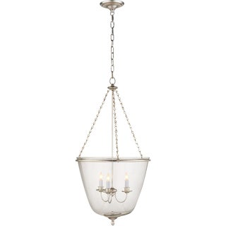 Aerin Lauder3 Light 20 Inch Burnished Silver Leaf Jar Lantern Ceiling Light - Visual Comfort For Sale