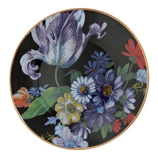 MacKenzie Childs Decorative Enamel Floral Plate