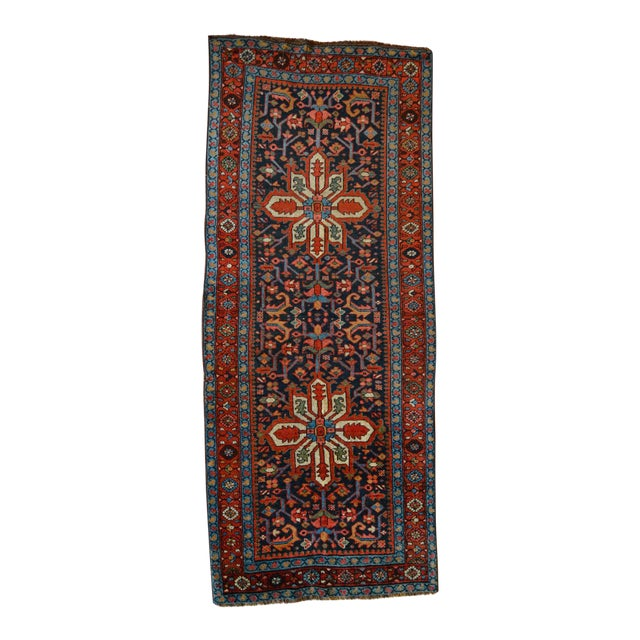 Antique Persian Heriz Karajeh Runner- 3′6″ × 8′10″ - Image 1 of 11