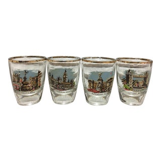 Mid-Century London Shot Glasses - Set of 4