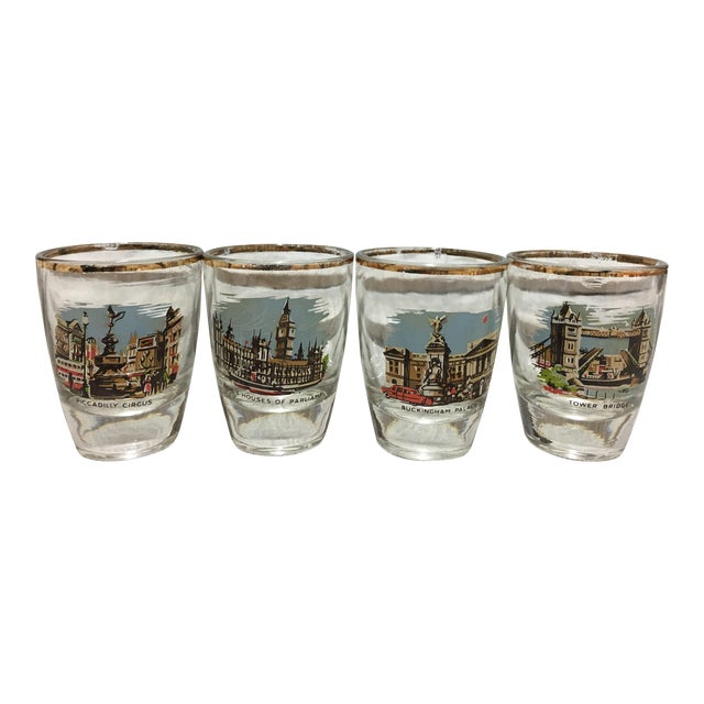 Mid-Century London Shot Glasses - Set of 4 - Image 1 of 8