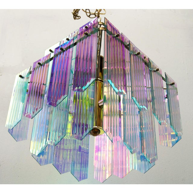 Dichroic Swag Chandelier - Image 2 of 7