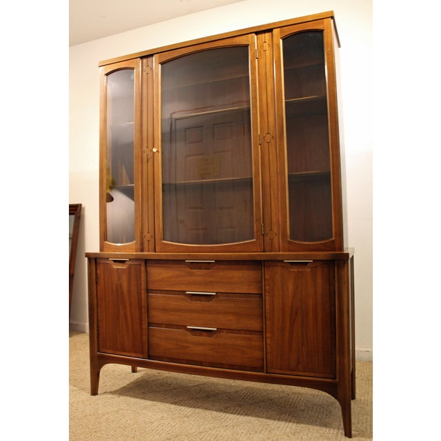 Mid-Century Danish Modern American of Martinsville Walnut China Cabinet #2 - Image 3 of 11