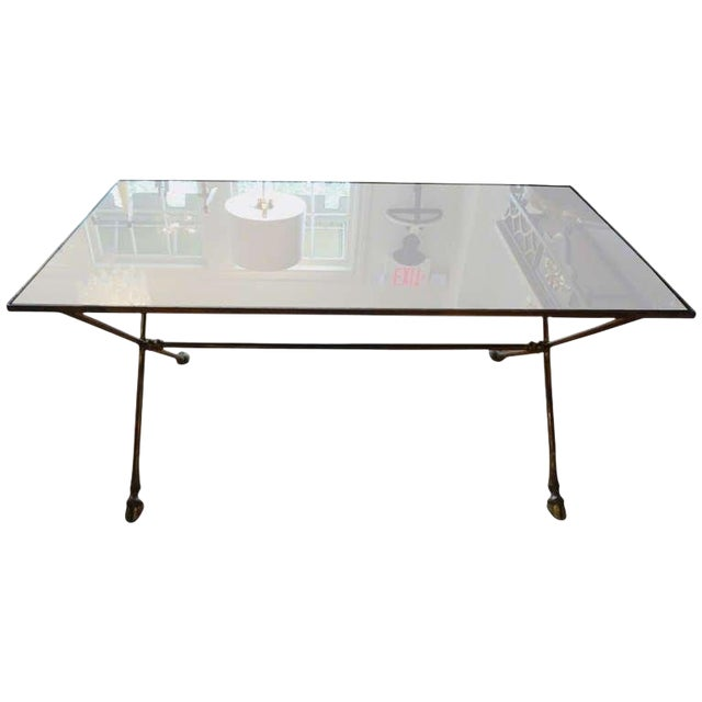 1940s French Rectangular Bronze Cocktail Table For Sale