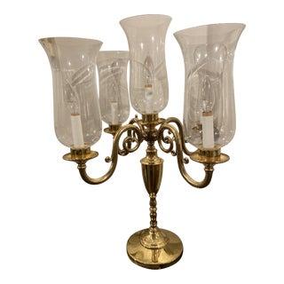 Vintage Traditional Brass Candelabra For Sale