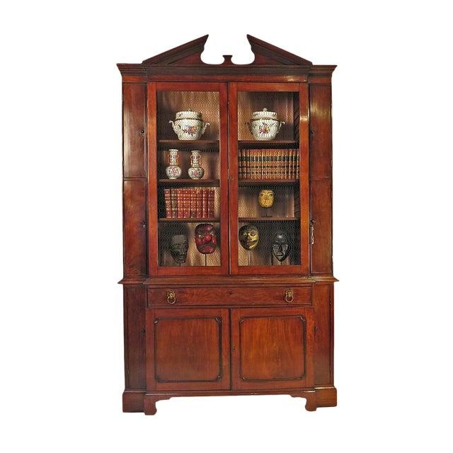 19th Century Breakfront George III Style Secretary Desk For Sale