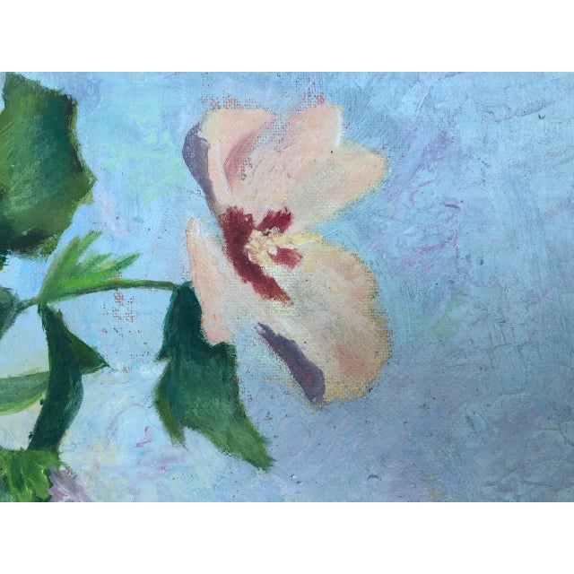 Paint 1970s Vintage Floral in Bloom Still Life Painting For Sale - Image 7 of 12