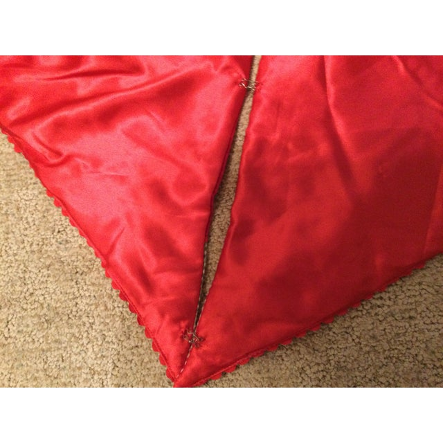 Vintage Red Velvet Tree Skirt For Sale - Image 10 of 11