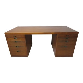 Danish Teak Desk by Borge Mogensen for Illums Bolighus For Sale