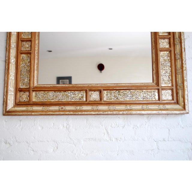 Syrian Mother of Pearl Inlay Mirror - Image 5 of 5